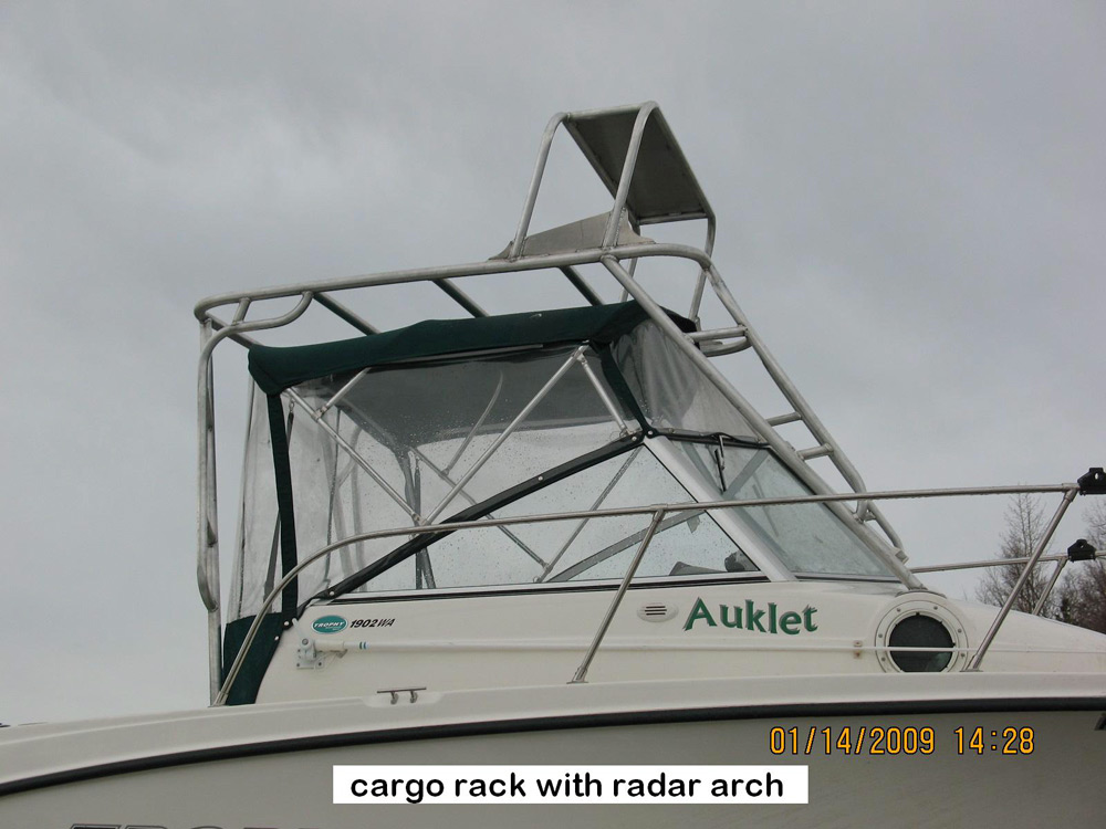 Boat Cargo Rack and Radar Arch
