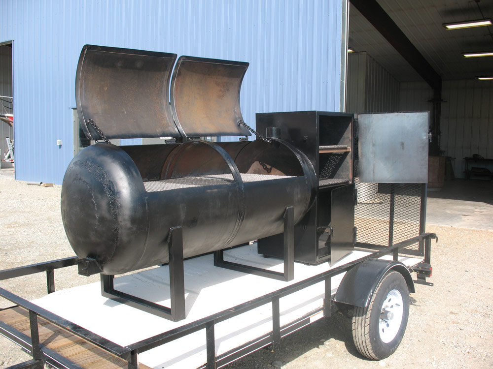 Custom Welded BBQ Cooker 1